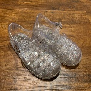GAP size 9 girls clear sparkle jelly sandals